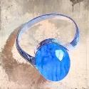 Anillos de ágata azul
